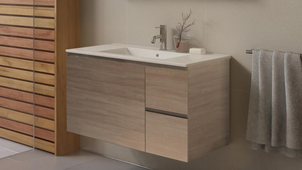 buy timberline ostia 900mm wall hung vanity harvey norman au