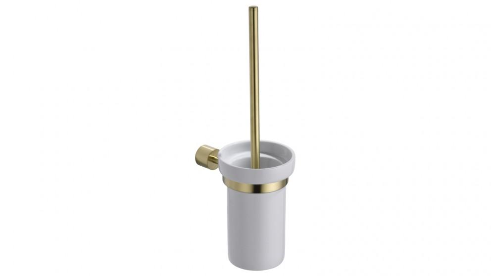 PLD Oasis Toilet Brush & Holder - Brushed Brass