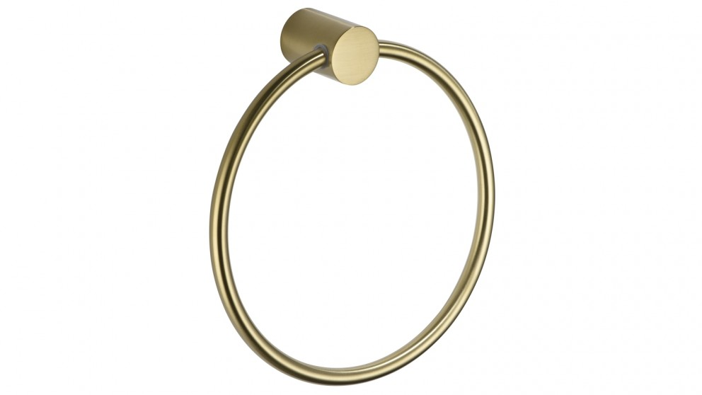 PLD Oasis Towel Ring - Brushed Brass