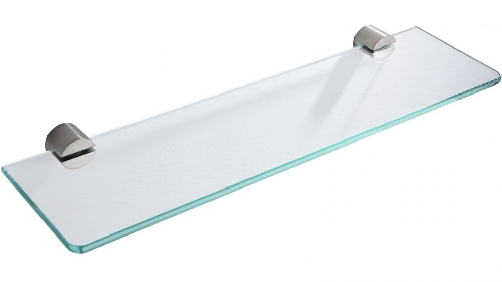 PLD Oasis Glass Shelf - Satin Nickel