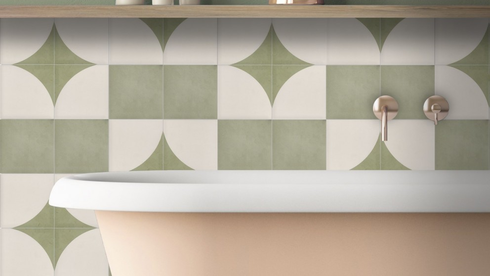 Aquarel 150x150mm Verde Matte Tile