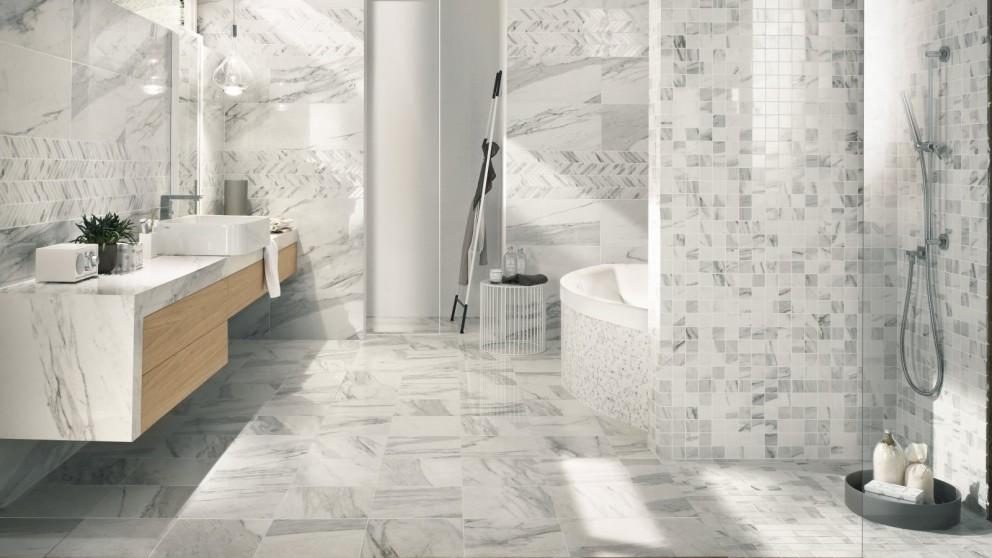 Imperial Calacatta Bianco Silk 300x300mm Tile