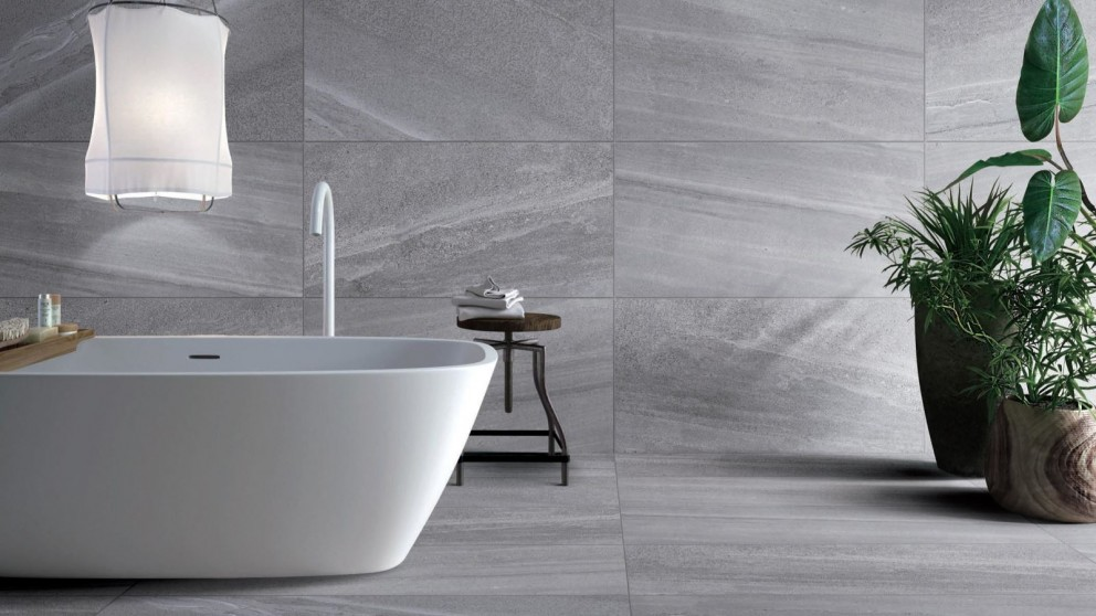 Stoneworx Pewter Matte 450x900mm Glazed Porcelain Tile