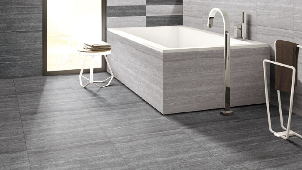 Senza Charcoal 600x600mm Matte Tile