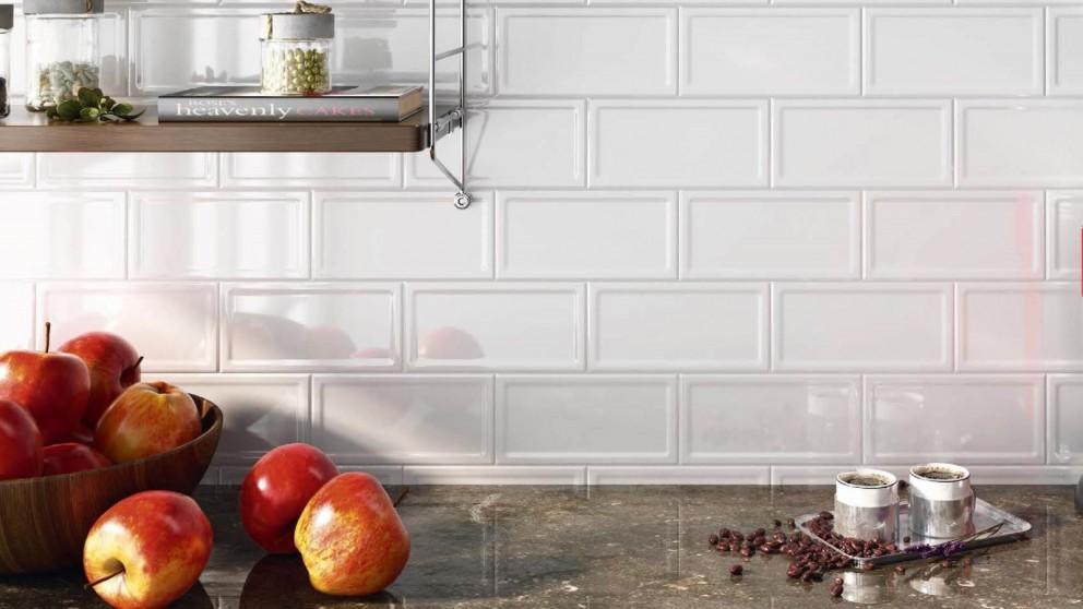 Shaker Blanco 200x100mm Gloss Subway Tile