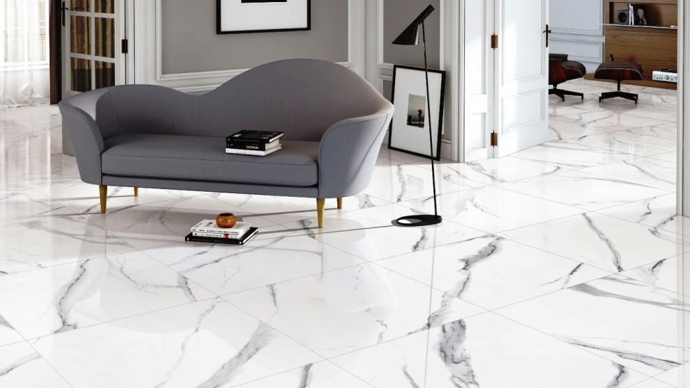 New Carrara 600x600mm Polished Porcelain Tile