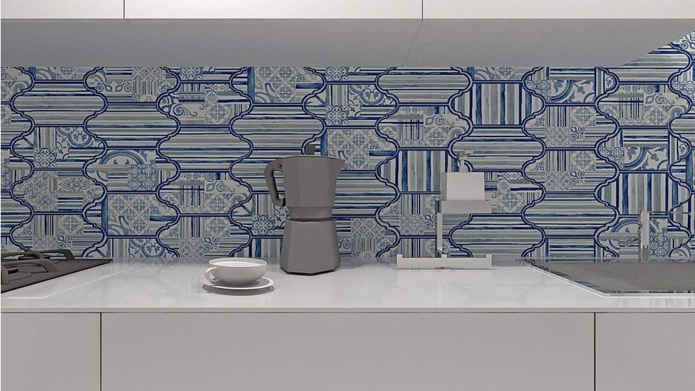 Garden Blue 162x326mm Wall Tile