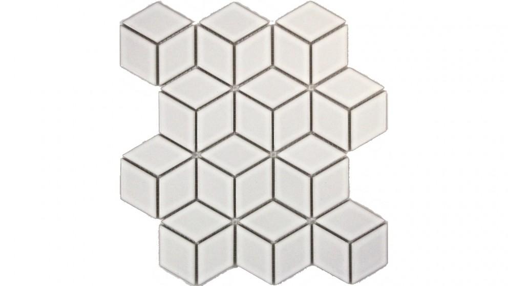 Cube 48x48mm Gloss Tile - White
