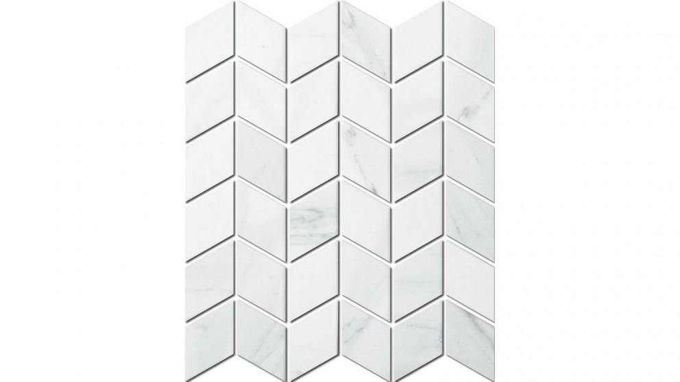 Carrara Rhombus 48x48mm Glazed Porcelain Matte Tile