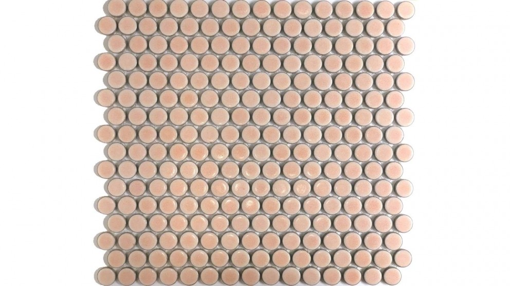 Glazed 19mm Penny Round Gloss Tile - Pink