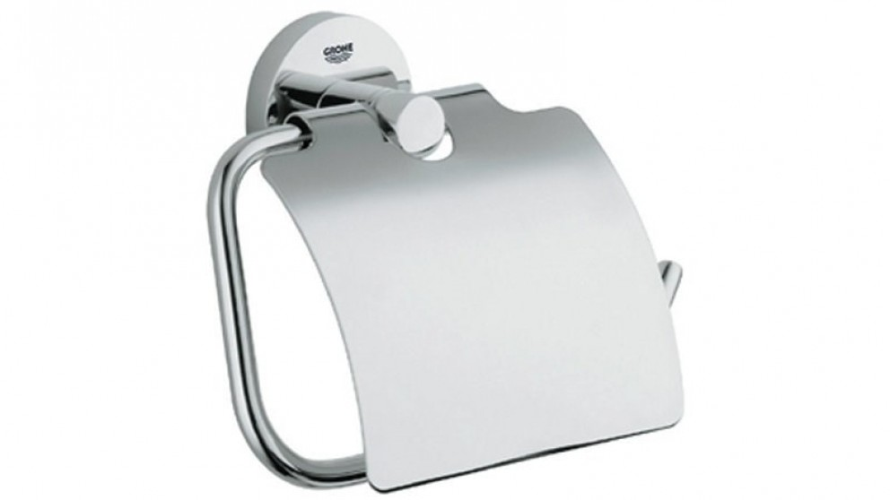 Grohe Essentials Covered Toilet Roll Holder