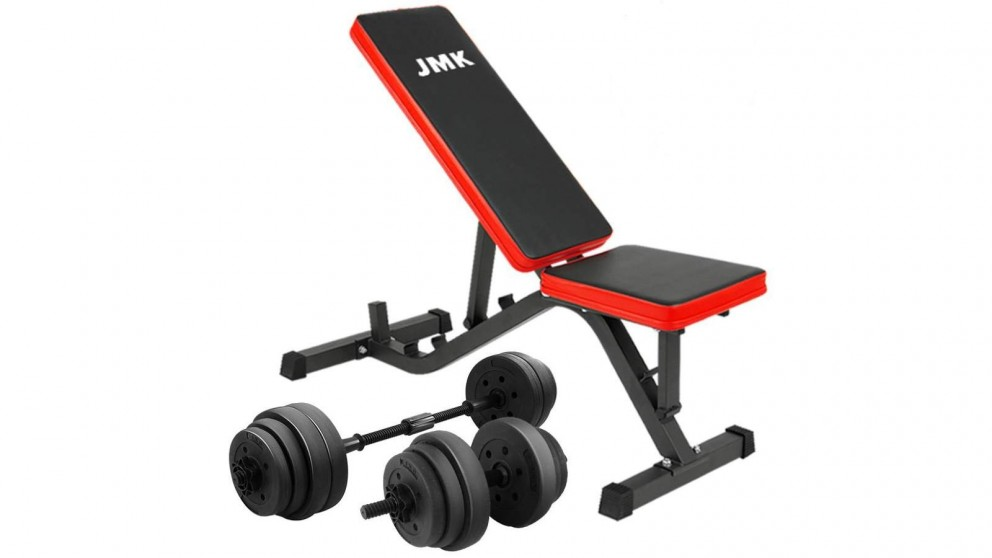 PowerTrain 20kg Dumbbell with ZYDB Exercise Bench