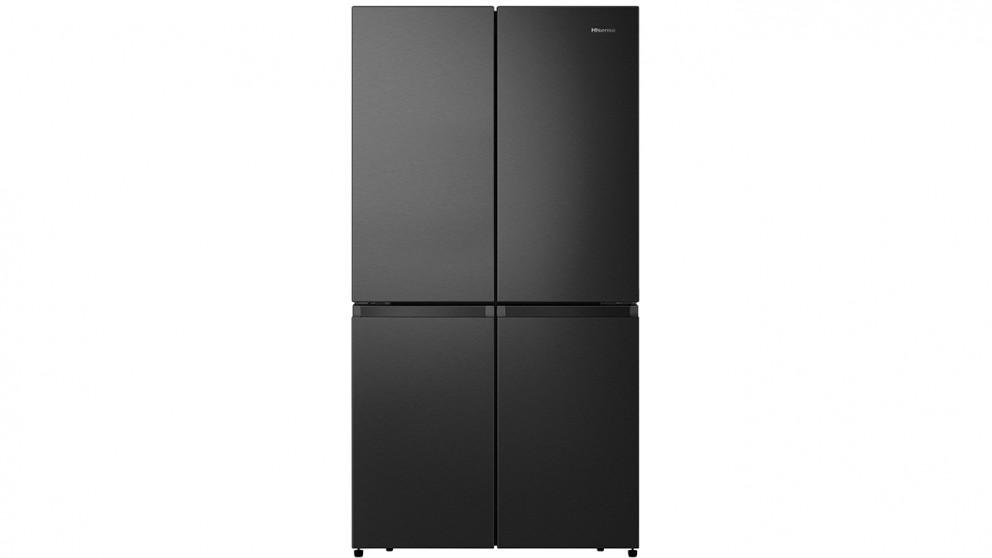 Hisense 670L PureFlat Quad-Door French Door Fridge - Black