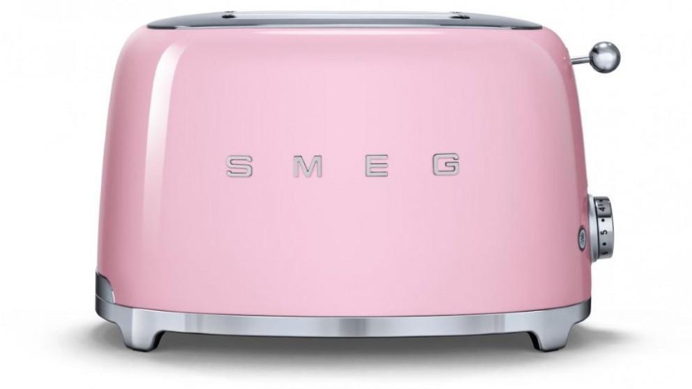 Smeg 50's Style Series 2 Slice Toaster - Pink