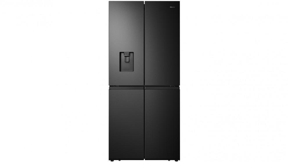 Hisense 507L 4-Door French Door Fridge - Black Steel