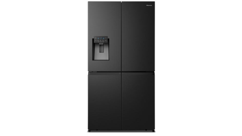 Hisense 650L PureFlat Quad-Door French Door Fridge - Black Steel