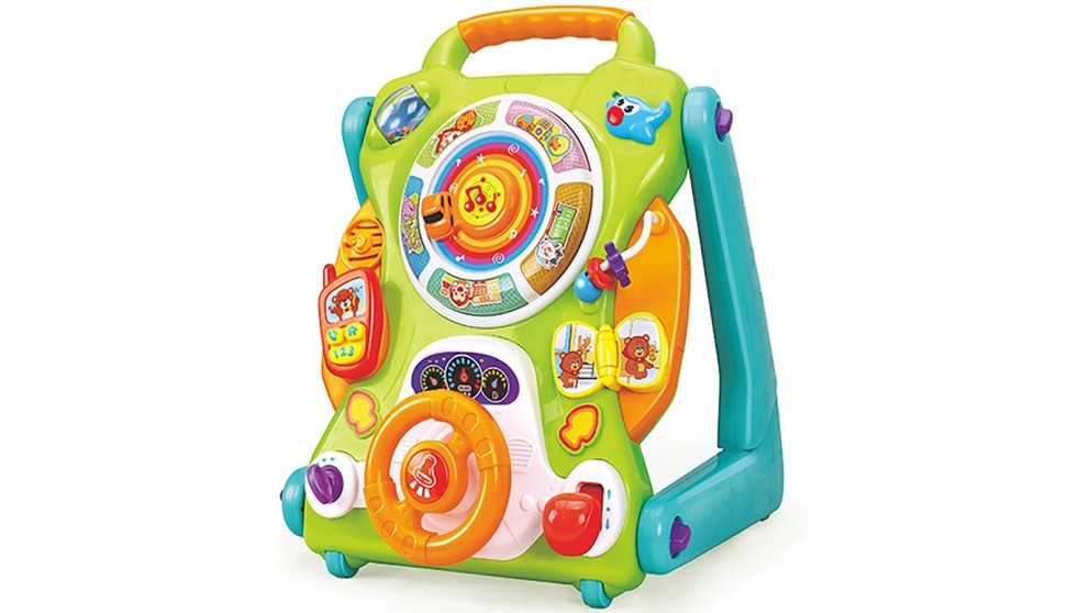 Hola Toys Covertible Baby Activity Table Walker