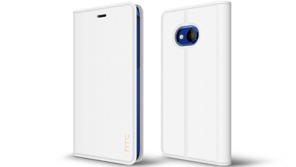 HTC U Play Leather Flip Case - Milky White