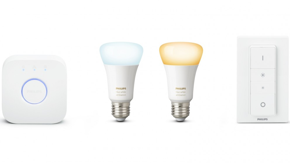 Philips Hue White Ambience Starter Kit with E27 Light Bulb