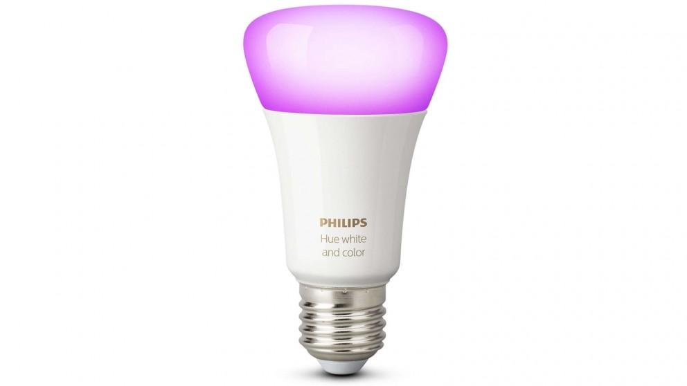 Philips Hue White and Colour Ambience 10W A60 E27 LED Light Bulb - Edison