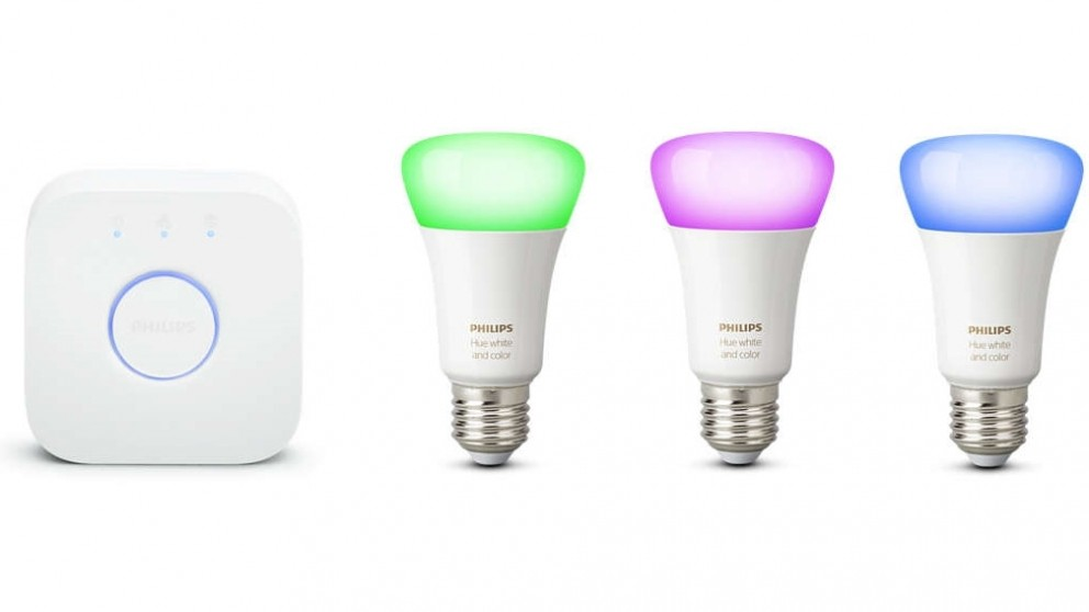 Philips Hue White and Colour Ambiance E27 Starter Kit Version 3