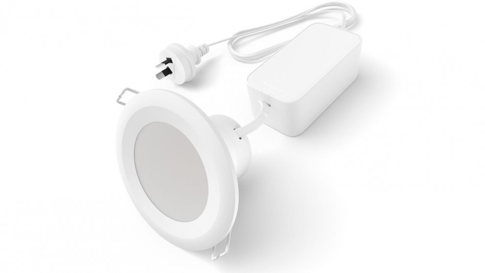 Philips 9cm White Ambient Downlight with Bluetooth