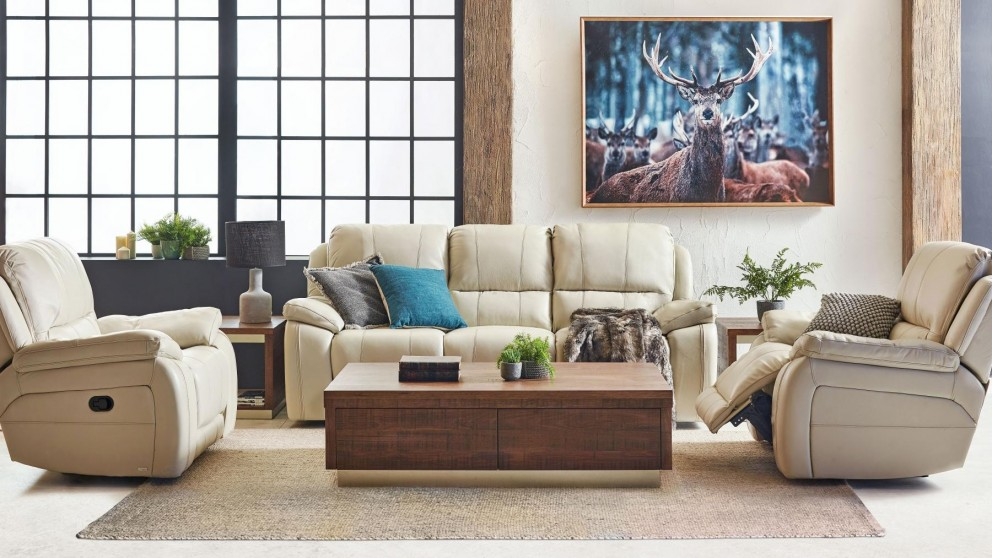 Hunter MKII 3-Piece Leather Recliner Lounge Suite