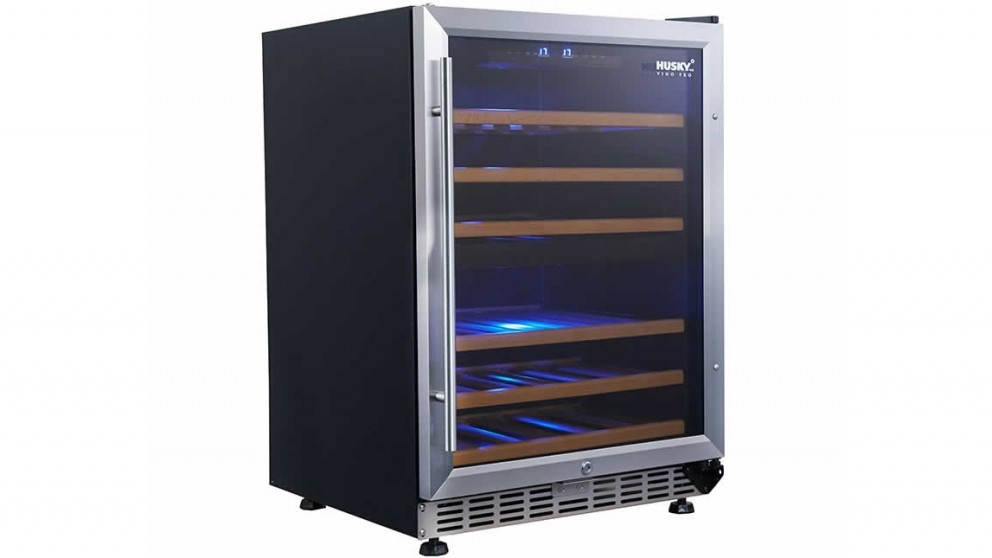 Husky 154L Dual Zone Wine Fridge - Stainless Steel