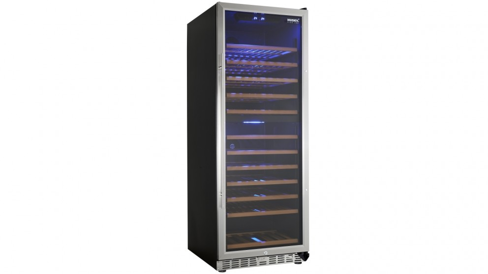 Husky 128 Bottle Dual Zone Wine Fridge - Stainless Steel