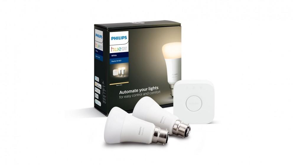 Philips Hue White B22 Starter Kit