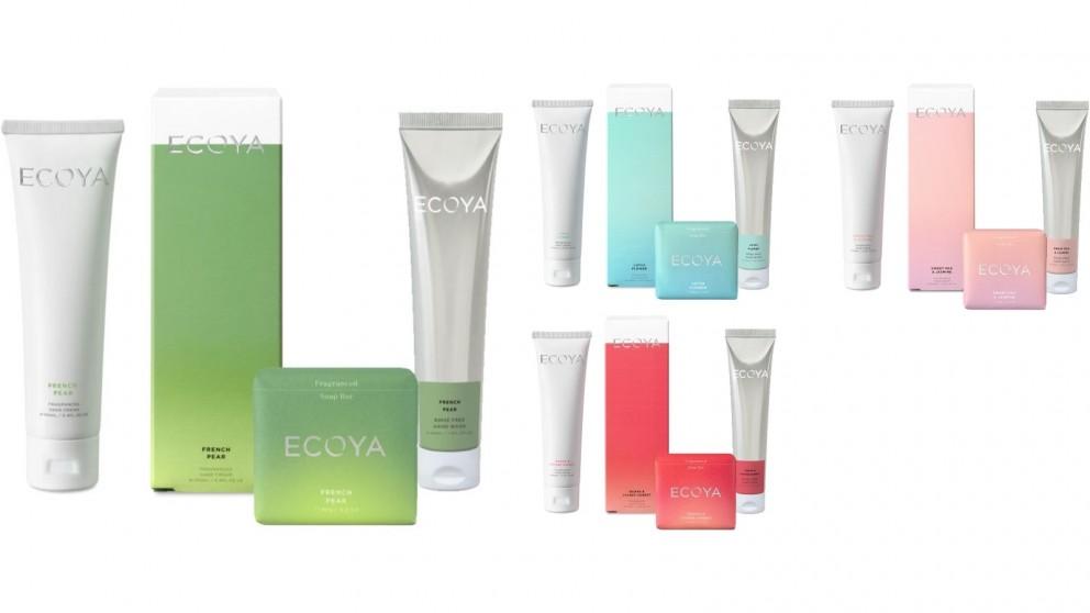 Ecoya Handwash, Handcream and Soap Bar Set