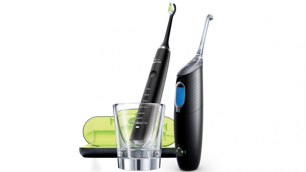 Philips Sonicare DiamondClean Electric Toothbrush and AirFloss Ultra Bundle - Black