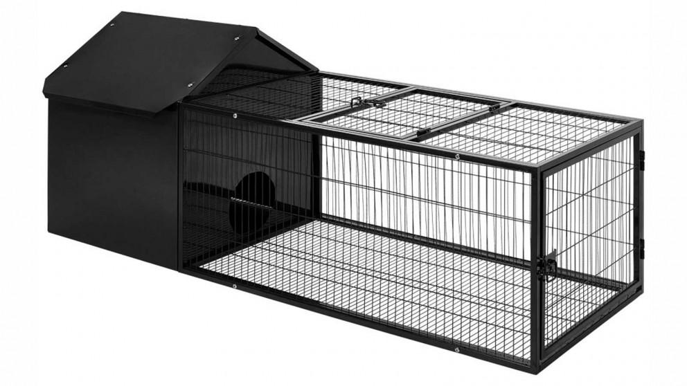 Buy I Pet Large Metal Rabbit Hutch Black Harvey Norman Au