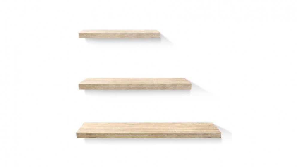 Artiss 3 Pieces Floating Shelf Set - Wood
