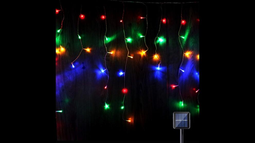 Lexi Lighting 480 LED Solar Icicle Light - Multicolour
