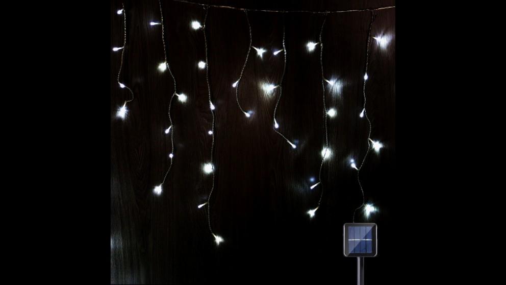 Lexi Lighting 480 LED Solar Icicle Light - White