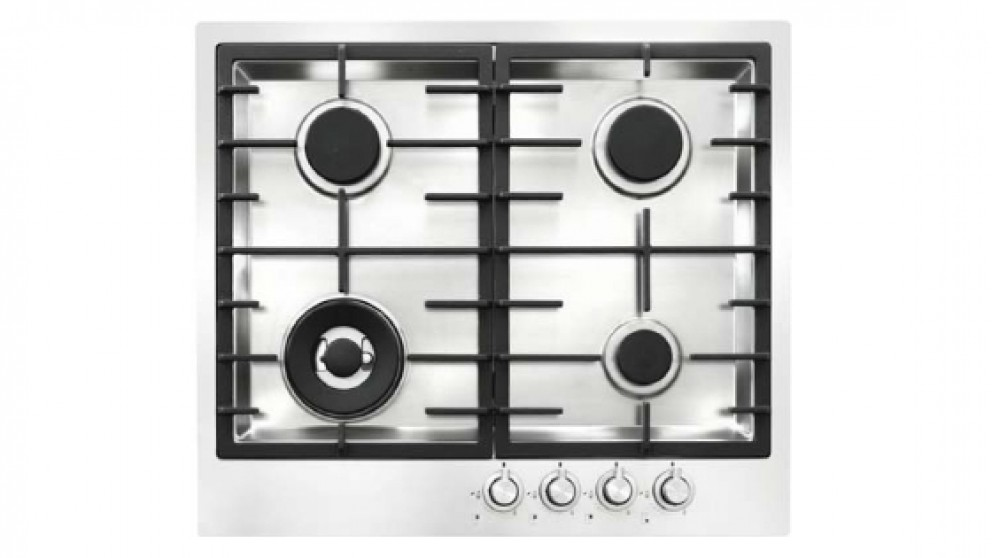 ILVE 600mm 4 Burner Natural Gas Cooktop - Stainless Steel