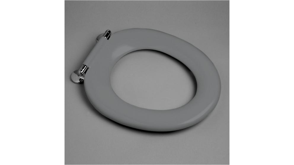 Caroma Pedigree II Single Flap Care Toilet Seat -  Anthracite Grey