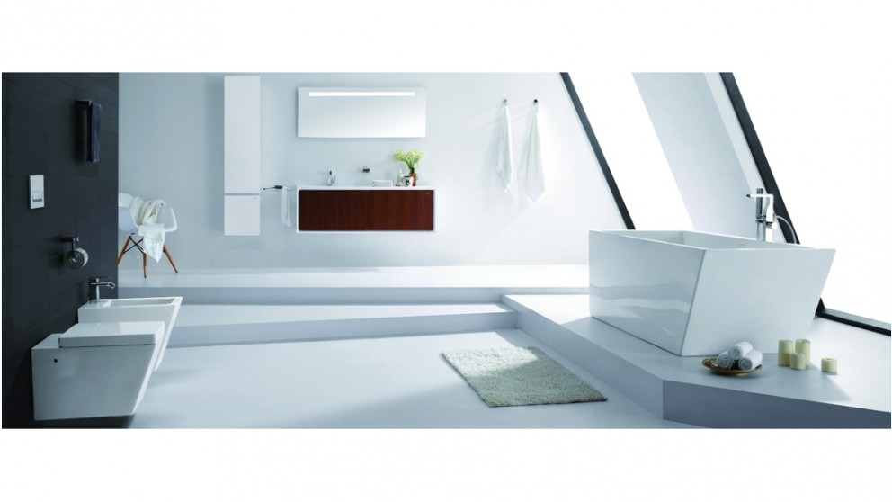 Buy Bravat Arc Free Standing Bath Shower/Bath Mixer - Chrome ...