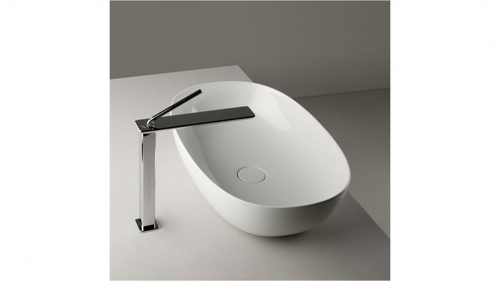 Buy Luna Contemporary 1400mm Back to Wall Freestanding Bath   Harvey ...
