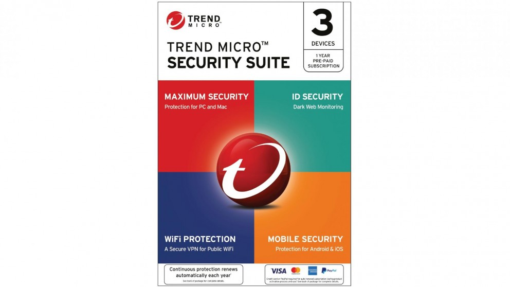 Trend Micro Security Suite Digital Download - 1 Year for 3 Devices