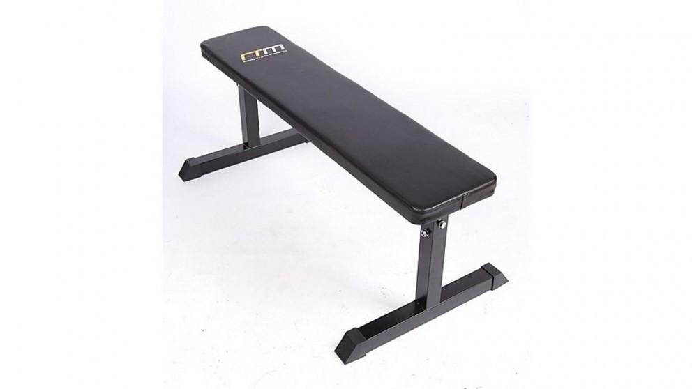 Serrano Weights Flat Bench Press Home Gym - Black
