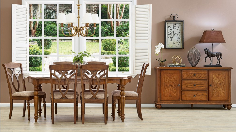Isabella 7 Piece Dining Setting