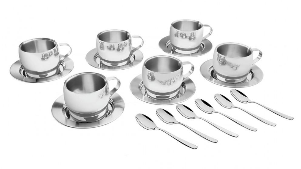 Tramontina Stainless Steel 18 piece Premium Coffee/Tea Set
