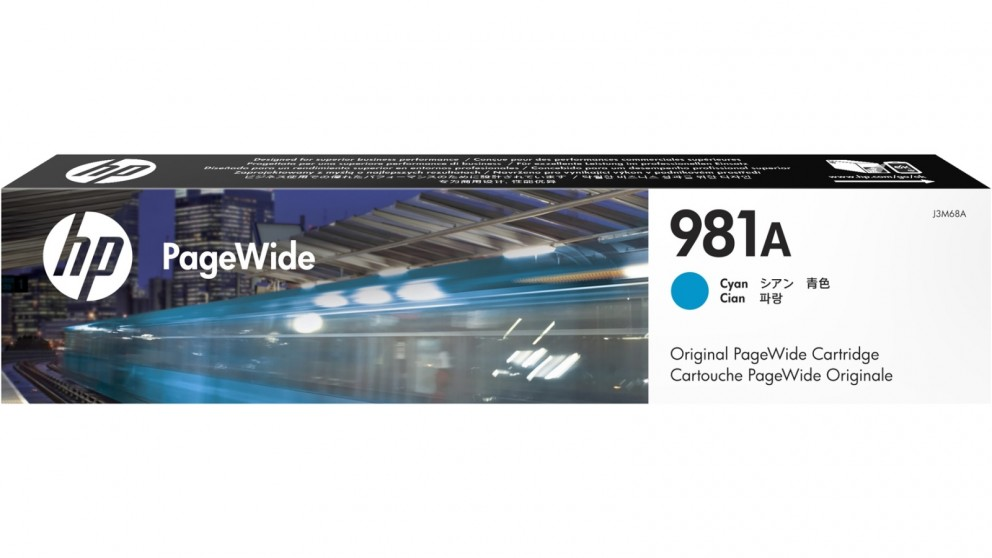 HP 981A PageWide Cyan Ink Cartridge