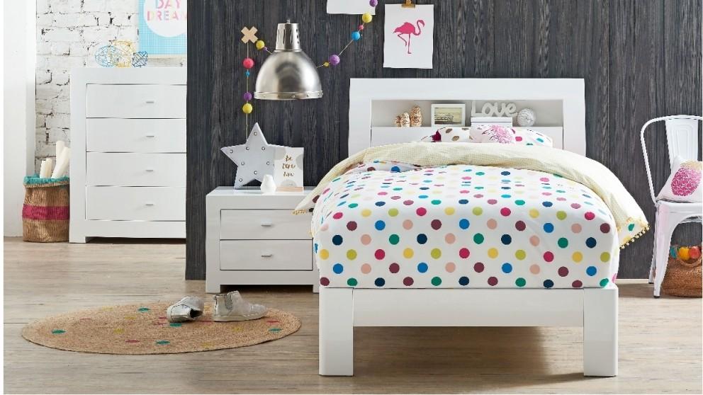 Jade King Single Bed - White - Kids Beds u0026 Suites - Bedroom - Beds u0026 Manchester : Harvey Norman ...