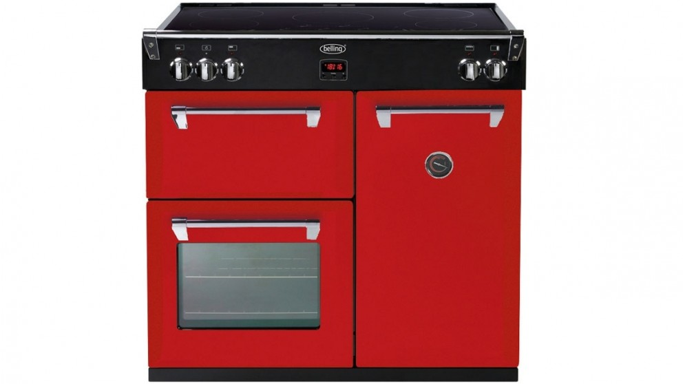 Belling 900mm Richmond Induction Range Freestanding Cooker - Red