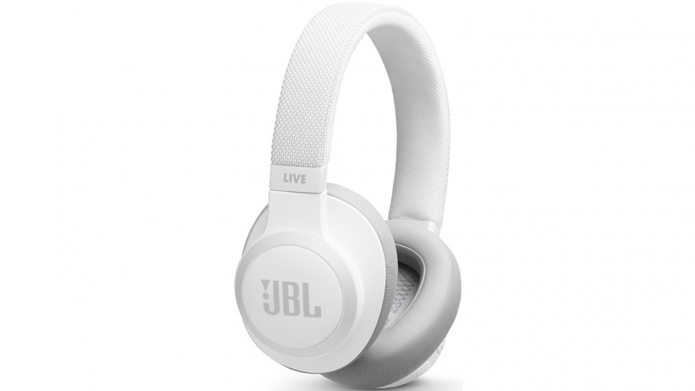 JBL Live 650 Wireless Bluetooth Noise Cancelling Over-Ear Headphones - White
