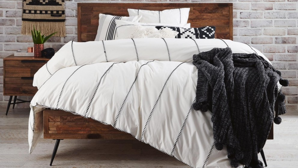 Jerome White Quilt Cover Set