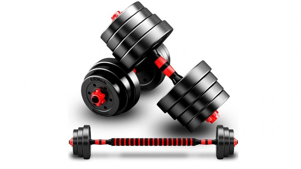 JMQ Fitness Adjustable Rubber Dumbbell Set